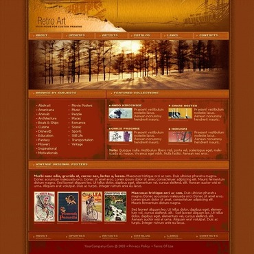 Art Store Website Template