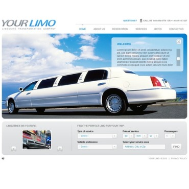 Limousine Services Flash Template