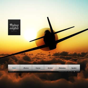Flight School Flash Template
