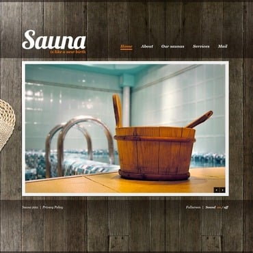Sauna Flash Template