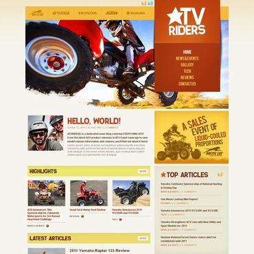Motor Sports WordPress Theme