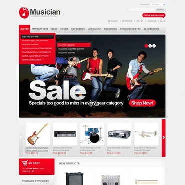 Music Store Magento Theme