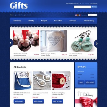 Gifts Store PrestaShop Theme