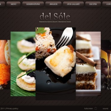 European Restaurant Facebook Flash CMS Template