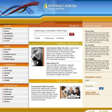Internet PHP-Nuke Template