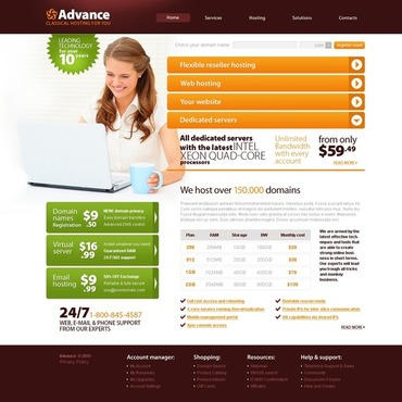 Hosting Website Template #34307