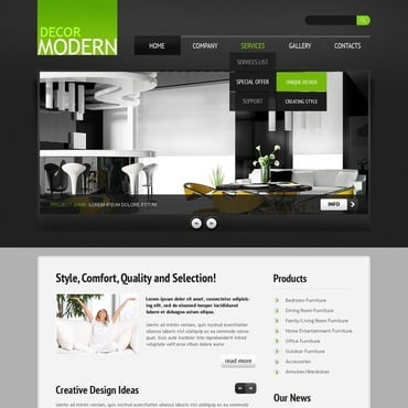 Home decor website templates Home decorating sites