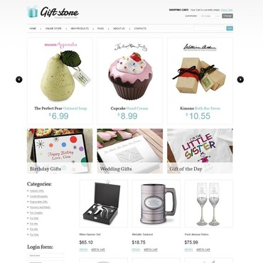 Gifts Store VirtueMart Template