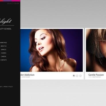 Beauty School Website Template