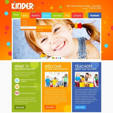 Kids Center Website Template