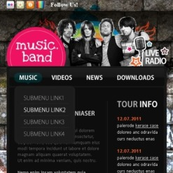 Music Band Facebook Template