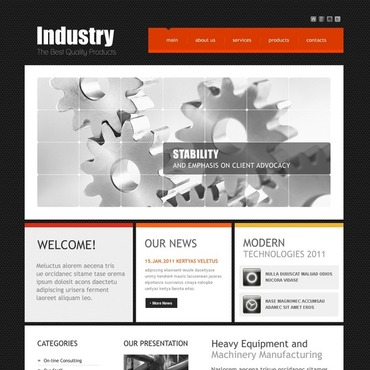 Industrial Website Template #35531