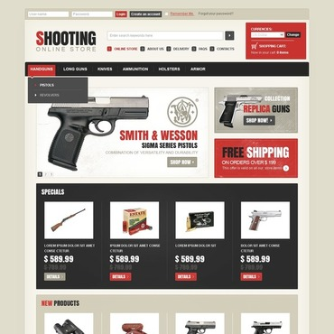 Shooting VirtueMart Template
