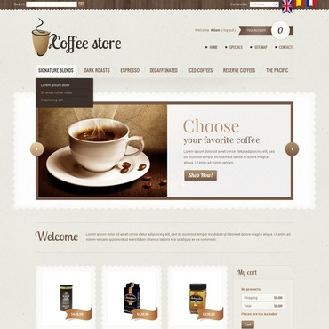 Coffee Shop PrestaShop Theme