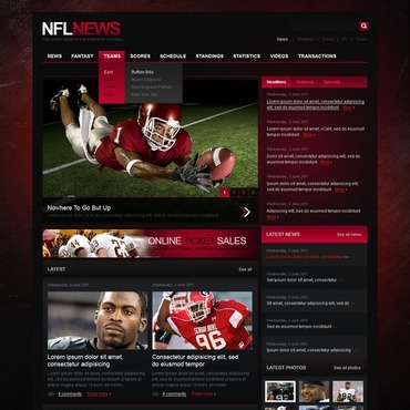 Football Website Template