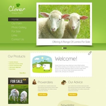 Sheep Farm Website Template