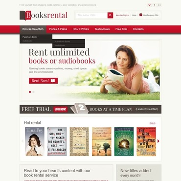 Book Store Website Template