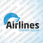 Private Airline Logo Template