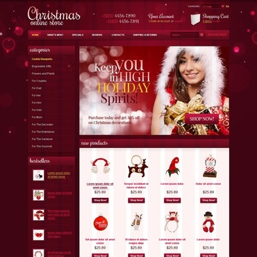 Christmas OsCommerce Template