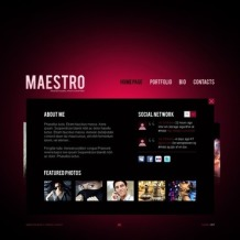 Photo Studio Flash CMS Template