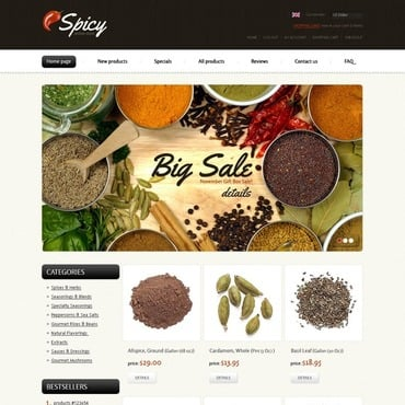 Spice Shop ZenCart Template