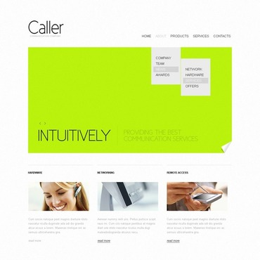 VOIP Website Template
