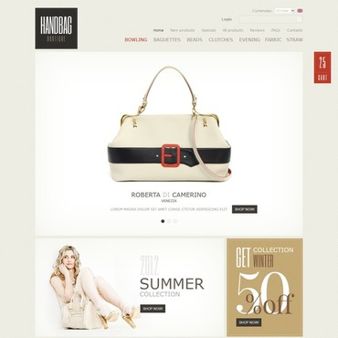 Handbag Facebook Flash Template