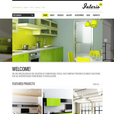 Interior Design Website Template