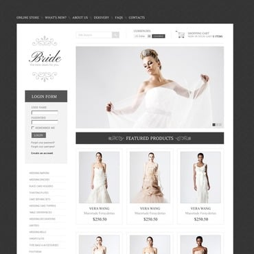 Wedding Dresses VirtueMart Template