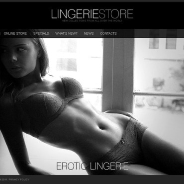 Lingerie Flash CMS Template #38071
