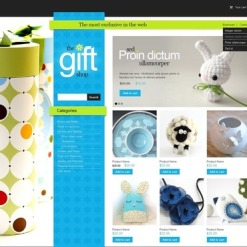 Gifts Store Flash CMS Template