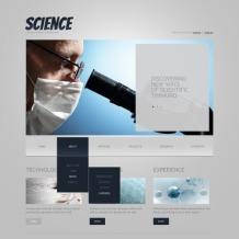 Science Website Template