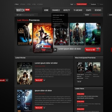 Movie Website Template