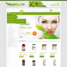 Drug Store Flash CMS Template
