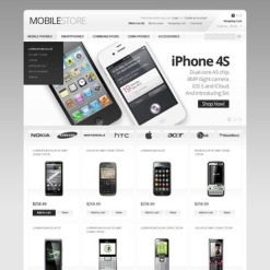 Mobile Store OpenCart Template