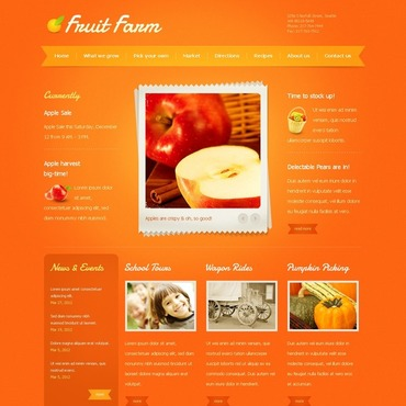 Fruit Website Template