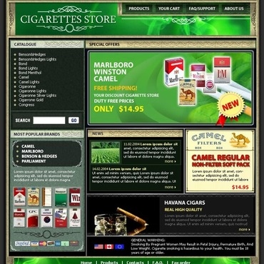 Tobacco Website Template