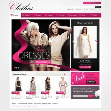 Apparel Facebook Flash CMS Template #39171