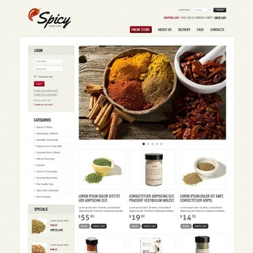 Spice Shop VirtueMart Template