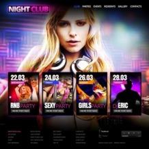 Night Club Flash Template