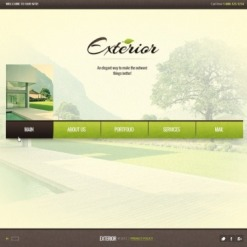 Exterior Design Flash Template