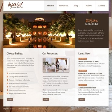 Hotels Joomla Template