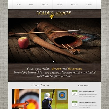 Archery Website Template