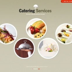 Catering Flash CMS Template