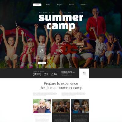 summer camp templates templatemonster