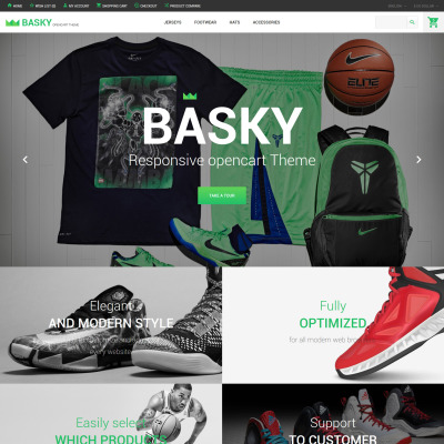 sports store templates and themes