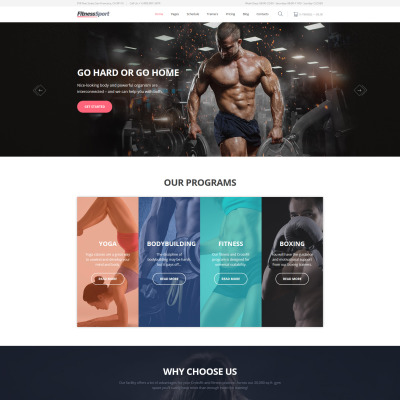 FitnessSport Website Template
