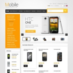 Mobile Store ZenCart Template