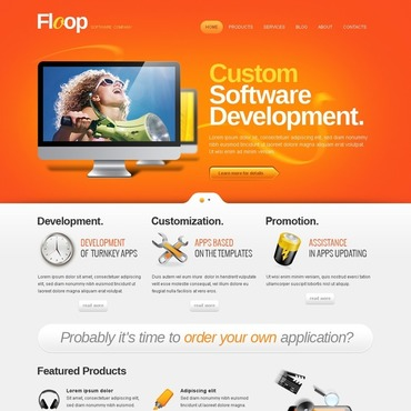 Software Company WordPress Theme #40435