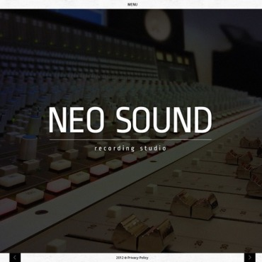 Recording Studio Website Template